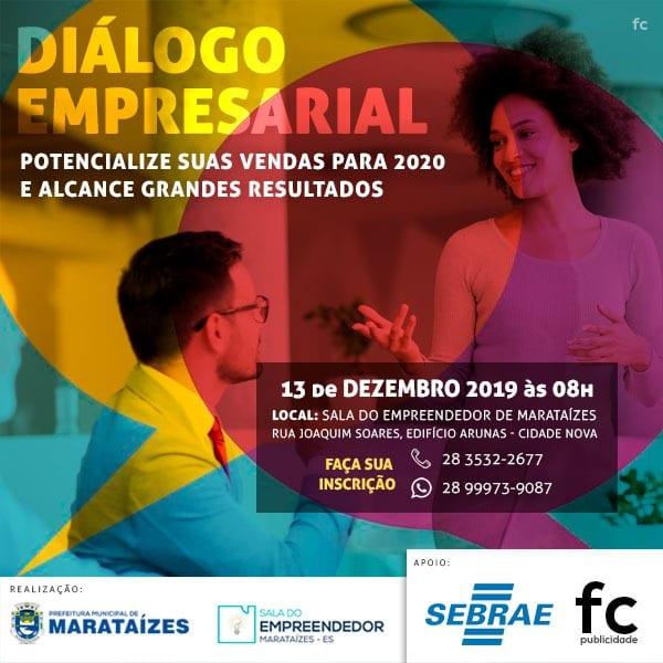Sala do Empreendedor convida você empresário de Marataízes para um Diálogo Empresarial