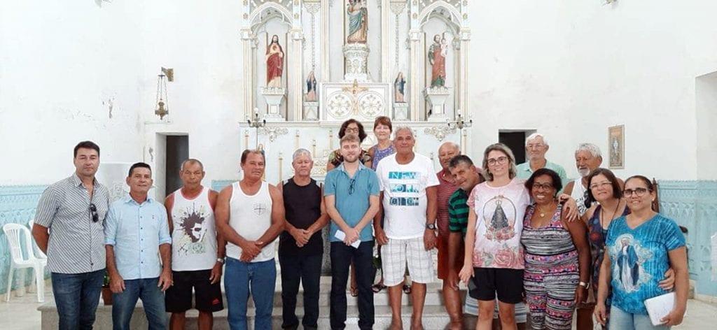 Festa de padroeira tem primeira missa com pescadores