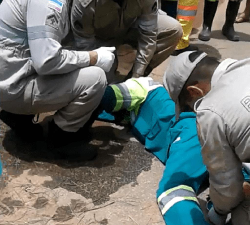 Trabalhador é atropelado durante limpeza de canteiro em Cachoeiro